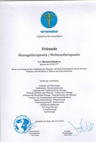 Massagetherapeutin / Wellnesstherapeutin