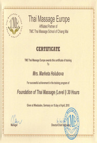 Thai Massage Certificate TME